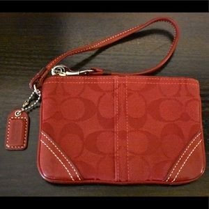 Classic Red Coach Wristlet